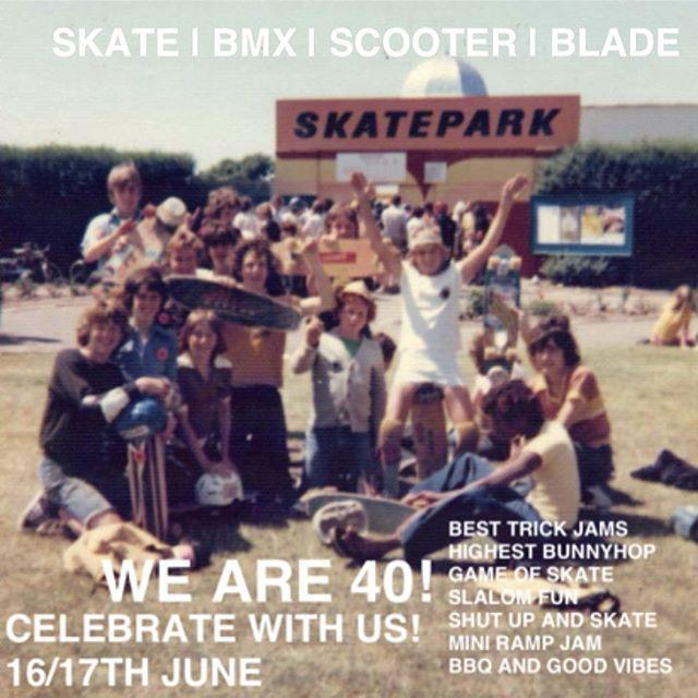 Southsea Skatepark 40th Anniversary - 16th-17th June 2018