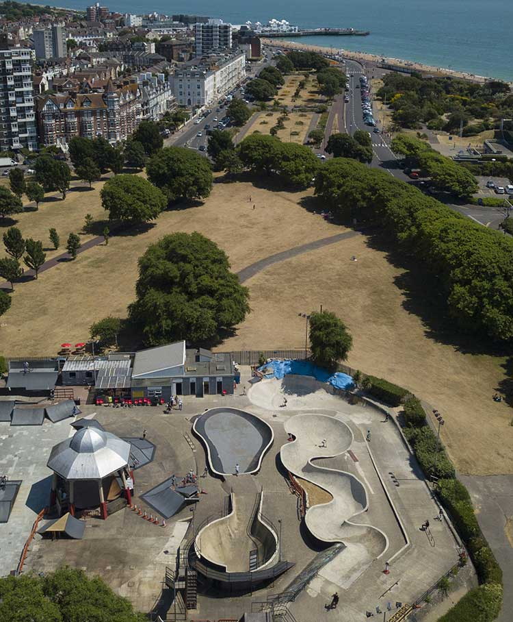Southsea Skatepark by Solent Sky Services