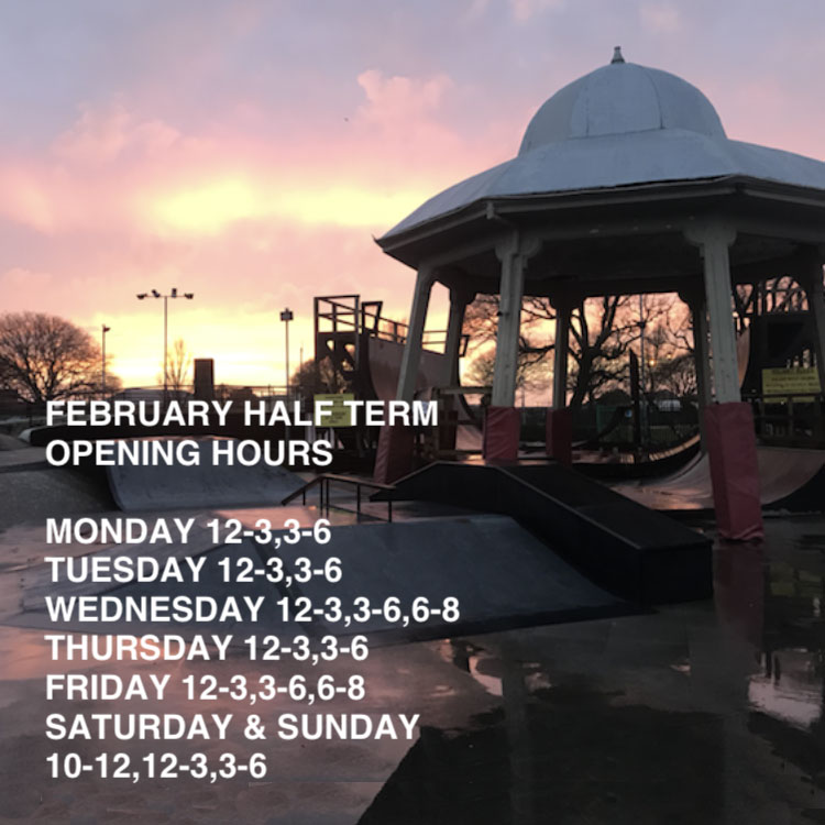 February 2019 Half Term Opening Hours