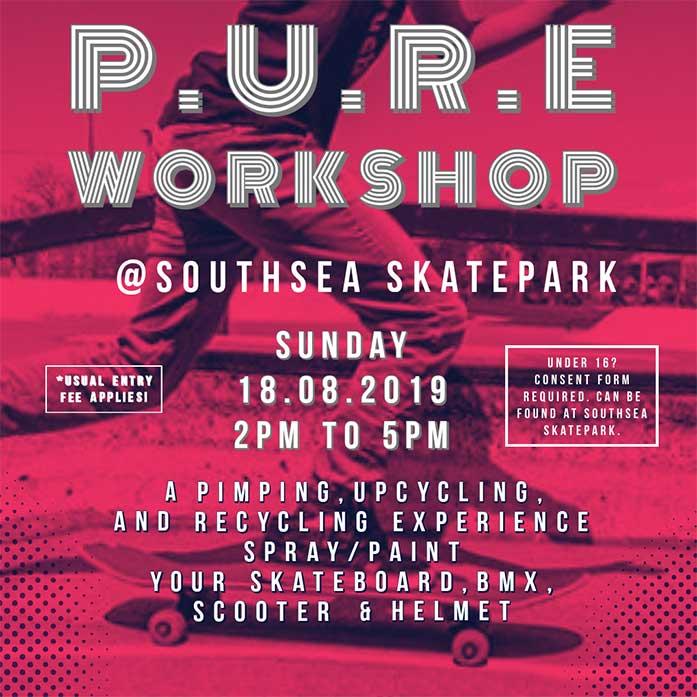 P.U.R.E. Workshop at Southsea Skatepark
